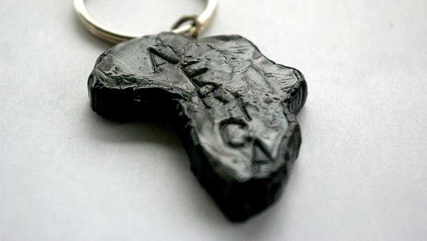 Africa Key Chain - Black and Gray by Emilie
